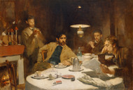 The Ten Cent Breakfast 1887 by Willard L Metcalf Framed Print on Canvas