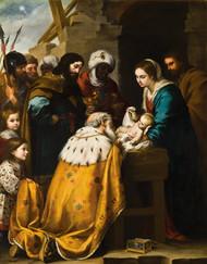 Adoration of the Magi 1655 by Bartolome Esteban Murillo Framed Print on Canvas