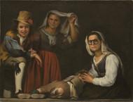 Four Figures on a Step 1655 by Bartolome Esteban Murillo Framed Print on Canvas