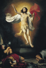 Resurrection of the Lord 1650 by Bartolome Esteban Murillo Framed Print on Canvas