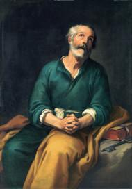 Saint Peter in Tears 1650 by Bartolome Esteban Murillo Framed Print on Canvas