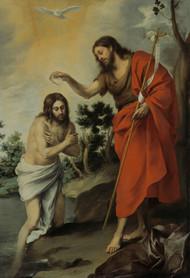 The Baptism of Christ 1655 by Bartolome Esteban Murillo Framed Print on Canvas