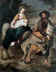 The Flight into Egypt 1645 by Bartolome Esteban Murillo Framed Print on Canvas
