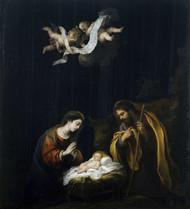 The Nativity 1665 by Bartolome Esteban Murillo Framed Print on Canvas