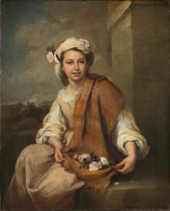 The Flower Girl 1665 by Bartolome Esteban Murillo Framed Print on Canvas