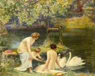 A Summer Morning 1906 by Robert Walker Macbeth Framed Print on Canvas