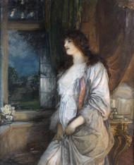 The nightingale's song 1904 by Robert Walker Macbeth Framed Print on Canvas