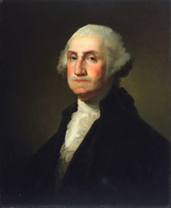 George Washington 1854 by Rembrandt Peale Framed Print on Canvas