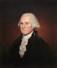 George Washington 1795 by Rembrandt Peale Framed Print on Canvas