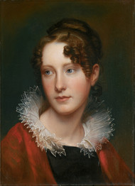Portrait of Rosalba Peale 1820 by Rembrandt Peale Framed Print on Canvas