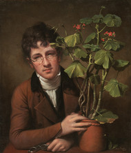Rubens Peale with a Geranium 1801 by Rembrandt Peale Framed Print on Canvas