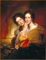 The Sisters (Eleanor and Rosalba Peale) 1826 by Rembrandt Peale Framed Print on Canvas