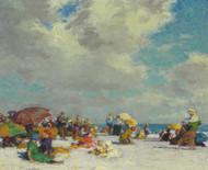 A Summer Afternoon 1910 by Edward Henry Potthast Framed Print on Canvas