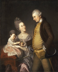 Portrait of John and Elizabeth Lloyd Cadwalader and their Daughter Anne by Charles Willson Peale Framed Print on Canvas