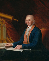 Portrait of David Rittenhouse 1796 by Charles Willson Peale Framed Print on Canvas
