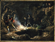 The Money Diggers 1832 by John Quidor Framed Print on Canvas