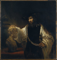 Aristotle with a Bust of Homer 1653 by Rembrandt Framed Print on Canvas