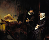 The Mennonite Preacher Anslo and his Wife 1641 by Rembrandt Framed Print on Canvas