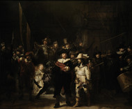 The Night Watch 1642 by Rembrandt Framed Print on Canvas