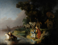 The abduction of Europa 1632 by Rembrandt Framed Print on Canvas