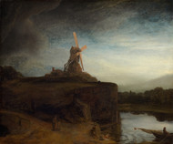 The Mill 1645 by Rembrandt Framed Print on Canvas
