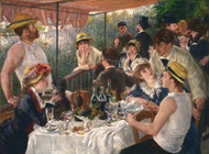 Luncheon of the Boating Party 1880 by Pierre-Auguste Renoir Framed Print on Canvas