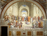 The School of Athens 1511 by Raphael Framed Print on Canvas
