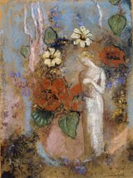 Pandora 1916 by Odilon Redon Framed Print on Canvas