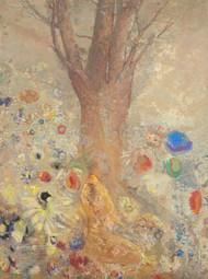 The Buddha 1904 by Odilon Redon Framed Print on Canvas