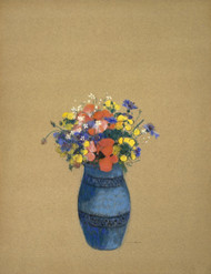 Vase of Flowers 1910 by Odilon Redon Framed Print on Canvas