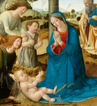 The Adoration of the Christ Child by Cosimo Rosselli Framed Print on Canvas