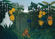 The Repast of the Lion 1907 by Henri Rousseau Framed Print on Canvas