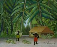 Banana Harvest 1907 by Henri Rousseau Framed Print on Canvas