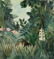 The Equatorial Jungle 1909 by Henri Rousseau Framed Print on Canvas