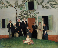The Family 1890–1900 by Henri Rousseau Framed Print on Canvas