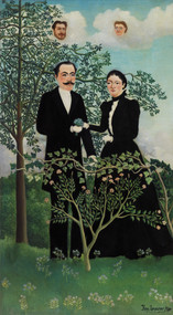 The Past and the Present, or Philosophical Thought 1899 by Henri Rousseau Framed Print on Canvas