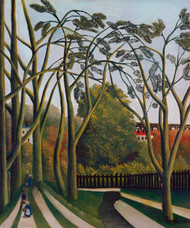 The Banks of the Bievre near Bicetre 1908 by Henri Rousseau Framed Print on Canvas