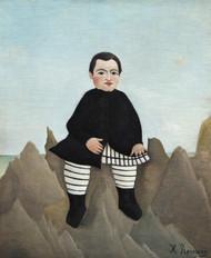 Boy on the Rocks 1895 by Henri Rousseau Framed Print on Canvas