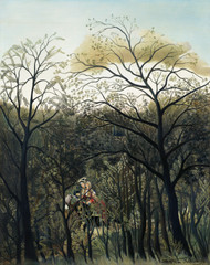 Rendezvous in the Forest 1889 by Henri Rousseau Framed Print on Canvas