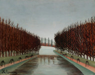 Le canal 1905 by Henri Rousseau Framed Print on Canvas