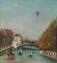 Study for View of the Pont de Sevres 1908 by Henri Rousseau Framed Print on Canvas