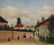 Outskirts of Paris 1895 by Henri Rousseau Framed Print on Canvas