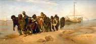 Barge haulers on the Volga 1870 by Ilya Repin Framed Print on Canvas