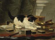 Kitten's Game by Henriette Ronner-Knip Framed Print on Canvas