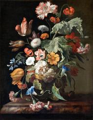 Still-Life with Flowers by Rachel Ruysch Framed Print on Canvas