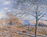 Banks of the Loing - Autumn Effect 1881 by Alfred Sisley Framed Print on Canvas