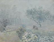 Fog Voisins 1874 by Alfred Sisley Framed Print on Canvas
