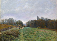 Landscape at Louveciennes 1873 by Alfred Sisley Framed Print on Canvas