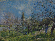 Orchard in Spring 1881 by Alfred Sisley Framed Print on Canvas