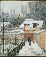 Snow at Louveciennes 1874 by Alfred Sisley Framed Print on Canvas